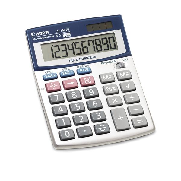Canon Ls100ts 10 Digit Desktop Calculator Canon Ls100ts 10